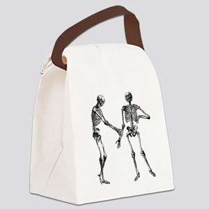 Laughing Skeletons Canvas Lunch Bag