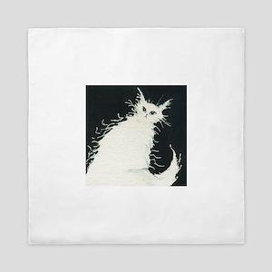Anchorage White Cat Queen Duvet