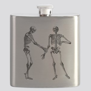 Laughing Skeletons Flask