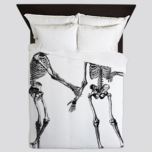 Laughing Skeletons Queen Duvet