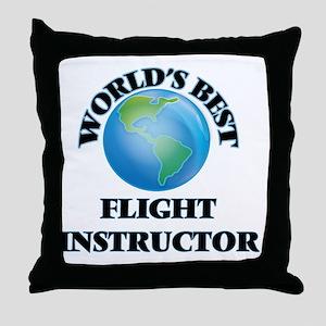 World's Best Flight Instructor Throw Pillow