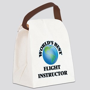 World's Best Flight Instructor Canvas Lunch Bag