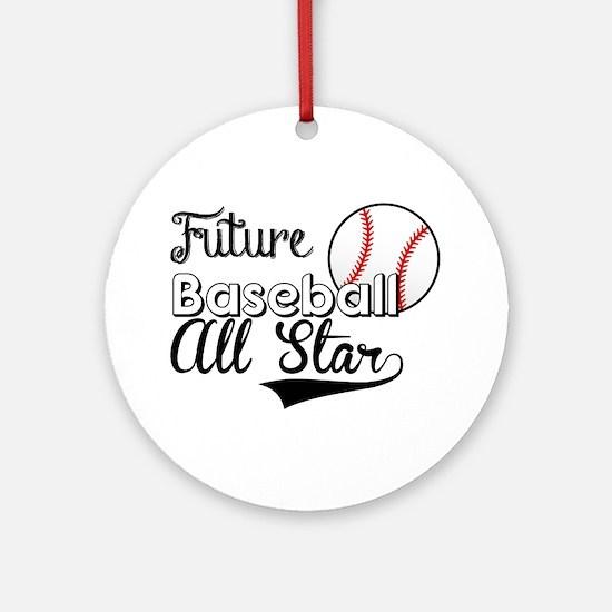 Future Baseball All Star Ornament (Round)