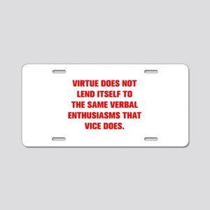 VIRTUE DOES NOT LEND ITSELF TO THE SAME VERBAL ENT