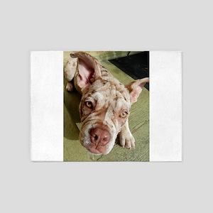 Olde English Bulldogge Puppy 5'x7'Area Rug