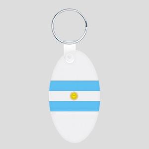 Argentinablank Aluminum Oval Keychain