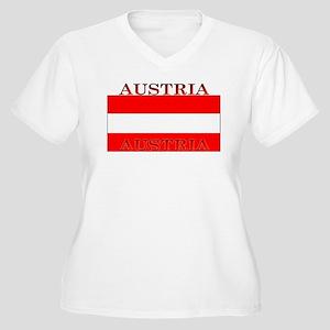 Austria.jpg Women's Plus Size V-Neck T-Shirt