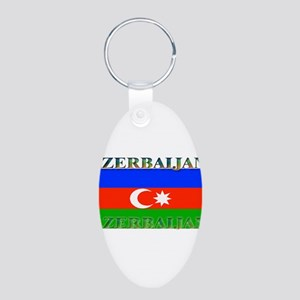 Azerbaijanblack Aluminum Oval Keychain