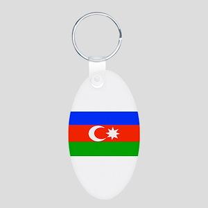 Azerbaijanblank Aluminum Oval Keychain