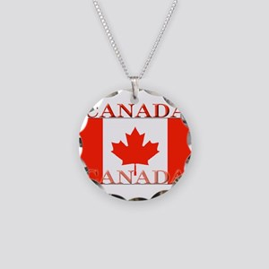 Canada Necklace Circle Charm