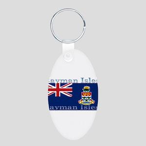 CaymanIsles Aluminum Oval Keychain
