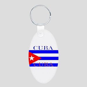 Cubablack Aluminum Oval Keychain