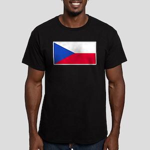 CzechRepublicblank Men's Fitted T-Shirt (dark)