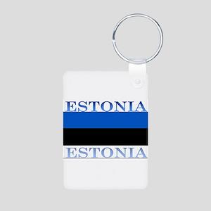 Estonia Aluminum Photo Keychain