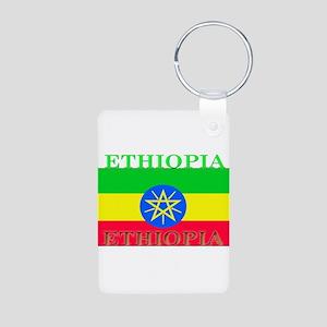 Ethiopia Aluminum Photo Keychain