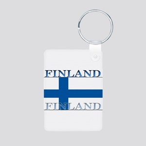 Finland Aluminum Photo Keychain