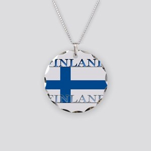 Finland Necklace Circle Charm