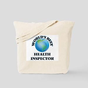World's Best Health Inspector Tote Bag