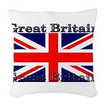 GreatBritain Woven Throw Pillow