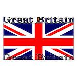 GreatBritain Sticker (Rectangle 10 pk)