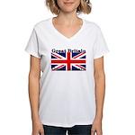 GreatBritain Women's V-Neck T-Shirt