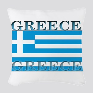 Greeceblack Woven Throw Pillow