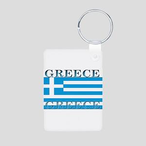Greeceblack Aluminum Photo Keychain