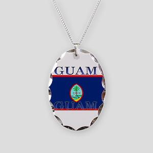 Guam Necklace Oval Charm