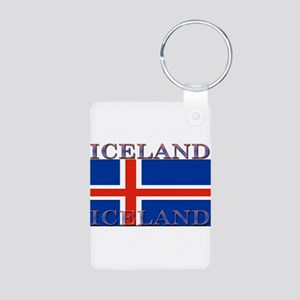 Iceland Aluminum Photo Keychain