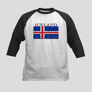 Iceland Kids Baseball Jersey