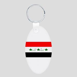Iraqblank Aluminum Oval Keychain