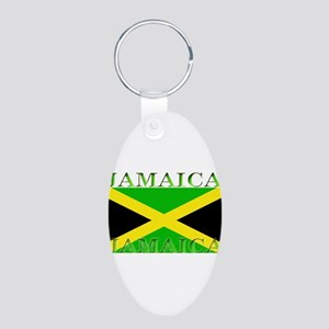 Jamaica Aluminum Oval Keychain