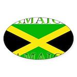 Jamaica Sticker (Oval 50 pk)