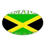 Jamaica Sticker (Oval 10 pk)