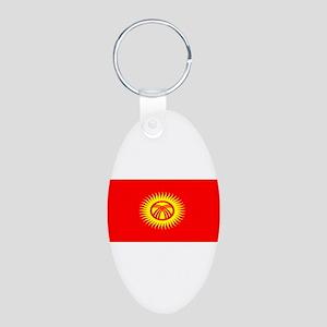 Kyrgystanblank Aluminum Oval Keychain