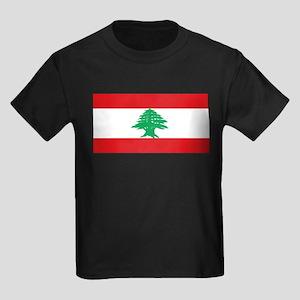 Lebanonblackblank Kids Dark T-Shirt