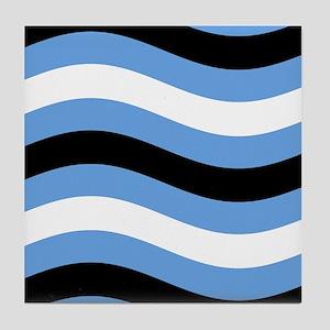 Gentle Soul RW Blue Wave Tile Coaster