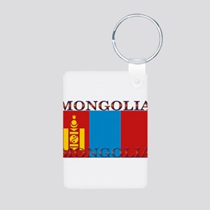 Mongolia Aluminum Photo Keychain