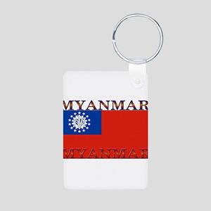 Myanmar Aluminum Photo Keychain