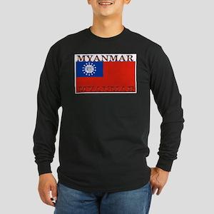 Myanmar Long Sleeve Dark T-Shirt