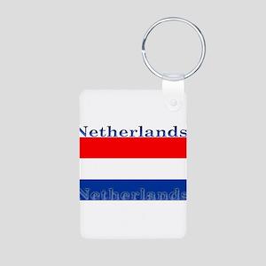 Netherlandsblack Aluminum Photo Keychain