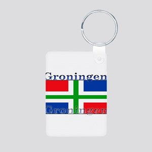 Groningen Aluminum Photo Keychain