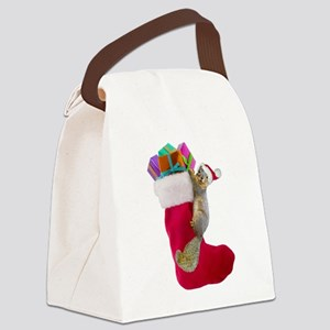 Squirrel Stocking Canvas Lunch Bag