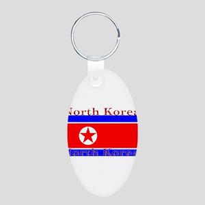 NorthKorea Aluminum Oval Keychain