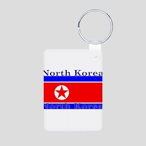 NorthKorea Aluminum Photo Keychain