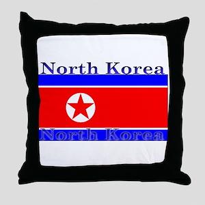 NorthKorea Throw Pillow