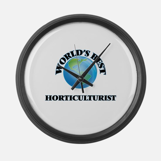 World's Best Horticulturist Large Wall Clock