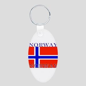 Norway Aluminum Oval Keychain