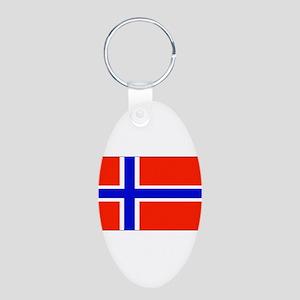Norwayblank Aluminum Oval Keychain