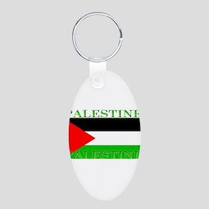 Palestine Aluminum Oval Keychain